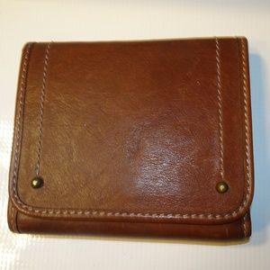 Banana Republic Brown Leather Zip I.D. Wallet